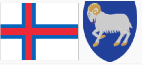Faroe Islands coat of arms flag